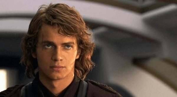 Porträt, das Anakin Skywalker als jungen Erwachsenen zeigt