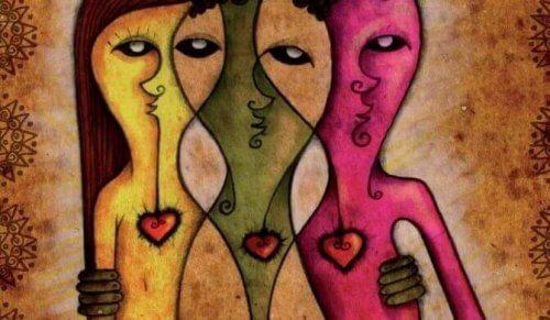 Eine künstlerische Darstellung von grenzenloser Liebe und Vielfalt