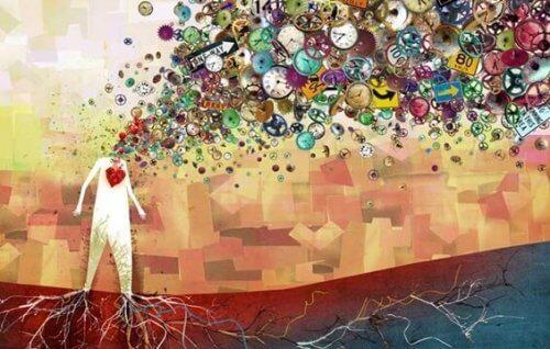 Das kreative Gehirn mit unzähligen Symbolen