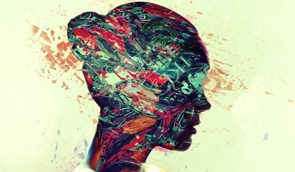 Profil vom Kopf einer Frau