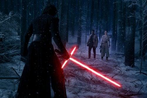"""Ein Kampf der dunklen Seite im Film """"Star Wars"""""""