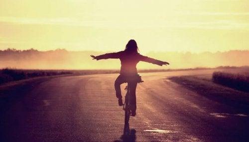 Auf dem Fahrrad in die Freiheit