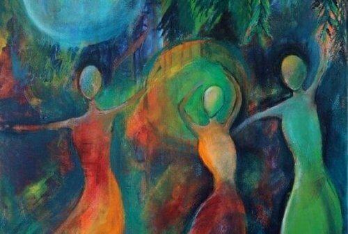 Malerei, die Spiritismus darstellt