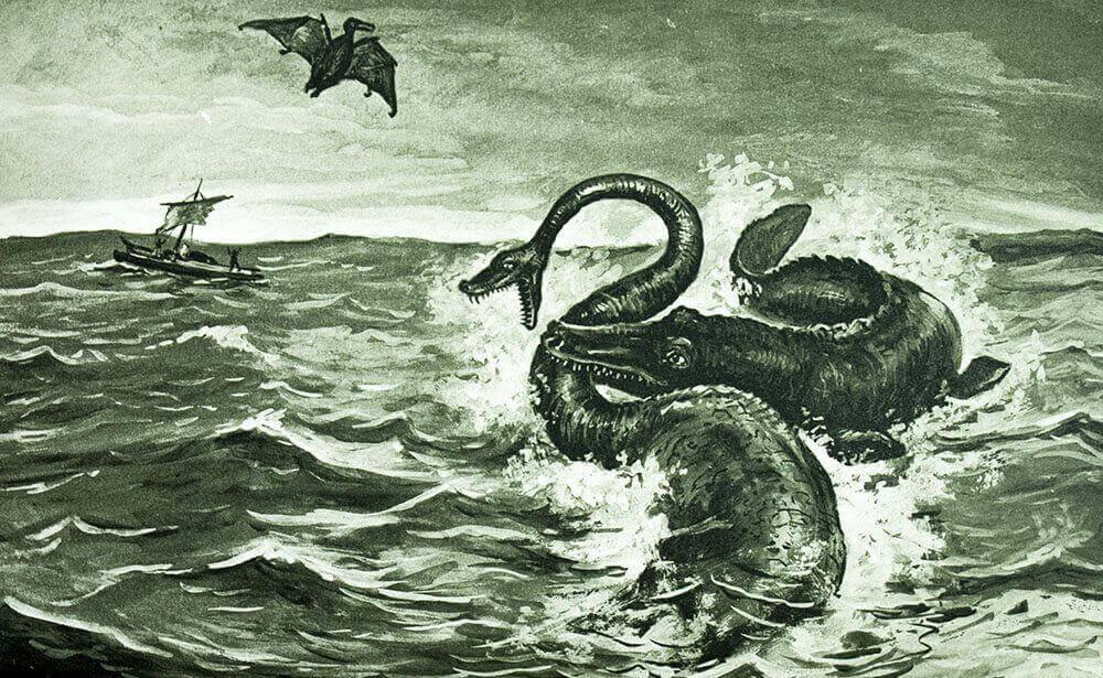 Fantasievolle Zeichnung: Verne über das Meer