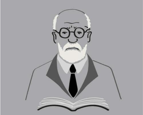 Eine Karikatur von Sigmund Freud