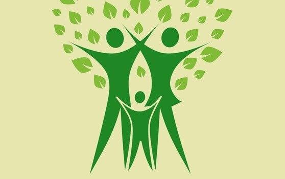 Ein Baum als Symbol für Familie und Umwelteinflüsse