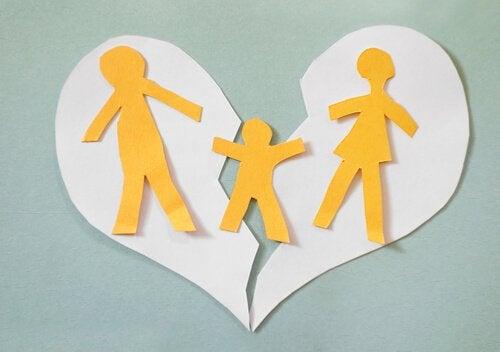 Bild einer Familie, die zerrissen wird