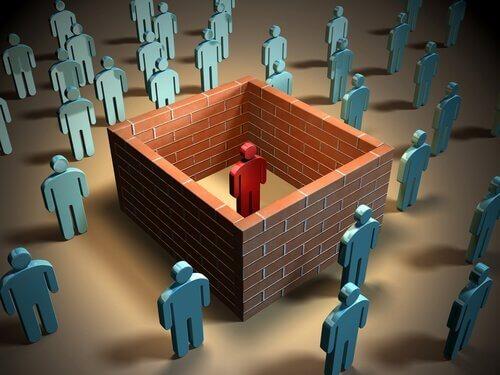 Figur, die soziales Rückzugssyndrom darstellt