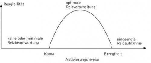 Yerkes-Dodson-Gesetz: Modell der umgekehrten U-Kurve