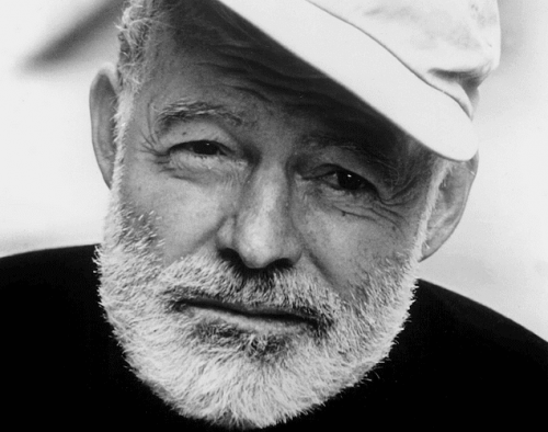 Porträt von Ernest Hemingway