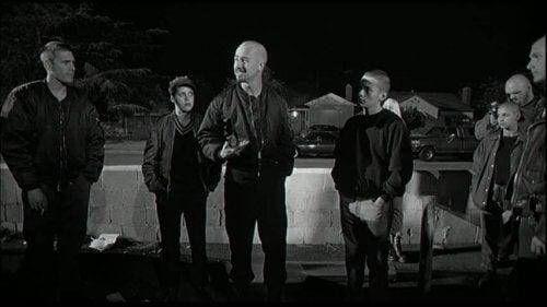 "Szene aus ""American History X"" - Cameron und junge Skinheads"