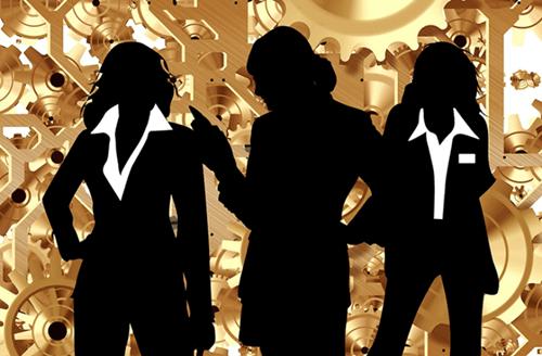 Drei Frauen in Führungspositionen
