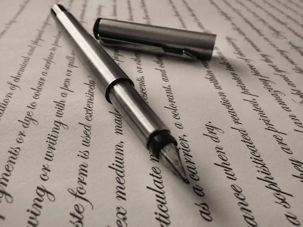 Füller liegt auf einem Brief