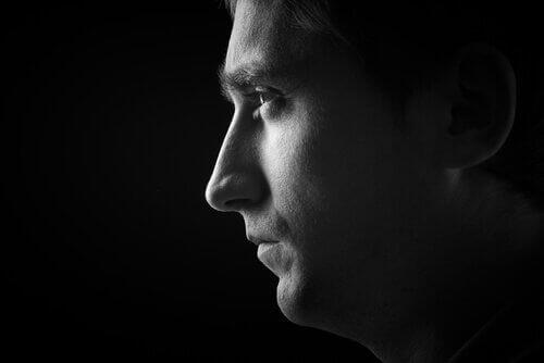 Mann im Profil
