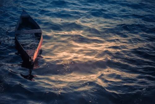 Boot auf dem Meer