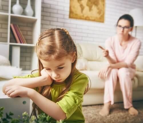 Mutter bestraft ihre Tochter