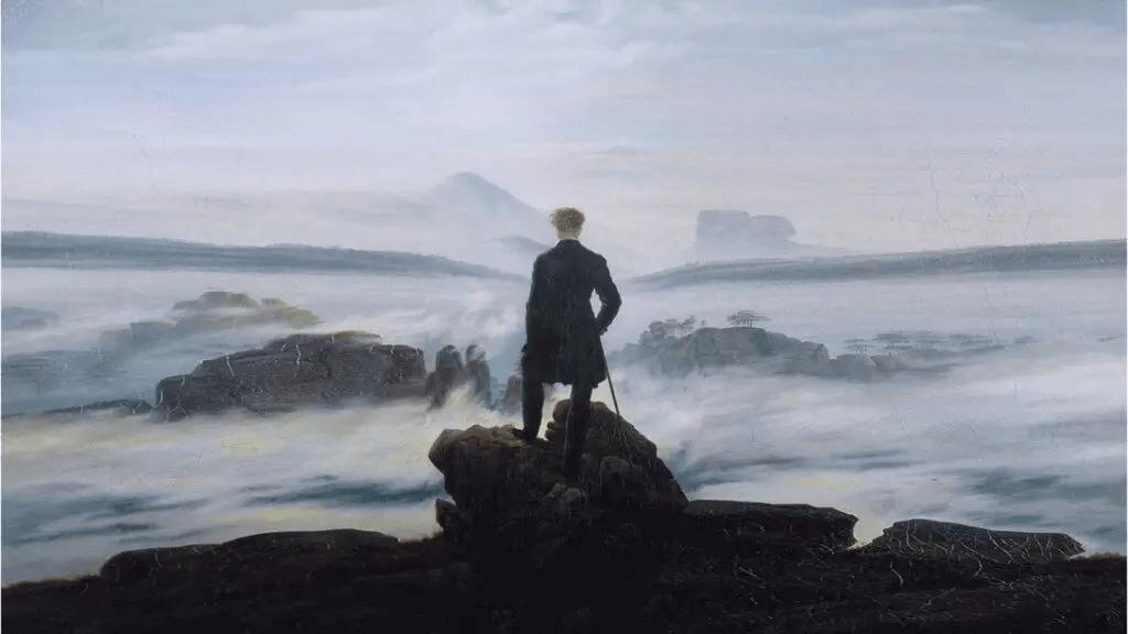 """""""Wanderer über dem Nebelmeer"""" von Kaspar David Friedrich"""