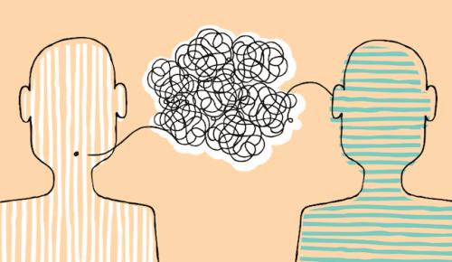Zwei miteinander kommunizierende Figuren
