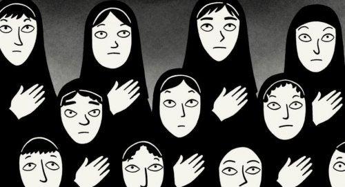 "Szene aus dem Film ""Persepolis"""