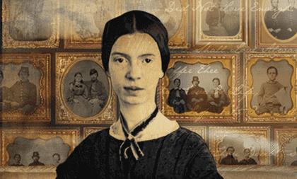 Ein Bild, das die berühmte Dichterin Emily Dickinson zeigt.
