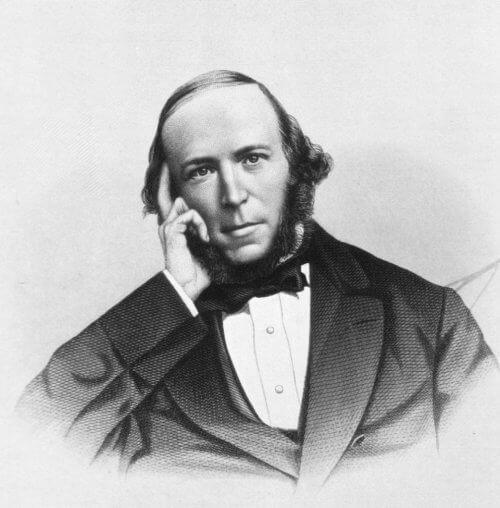 Herbert Spencer in Form einer Zeichnung.