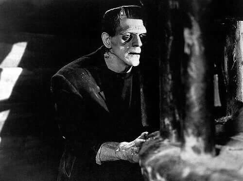 Das Monster im Film nach Mary Shelleys Frankenstein.