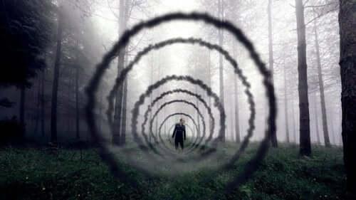 Negative Gedanken, wie unsere Ängste, ziehen uns in eine Abwärtsspirale, die uns lähmt.