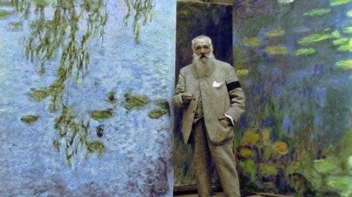 Monet mit seinen Bildern