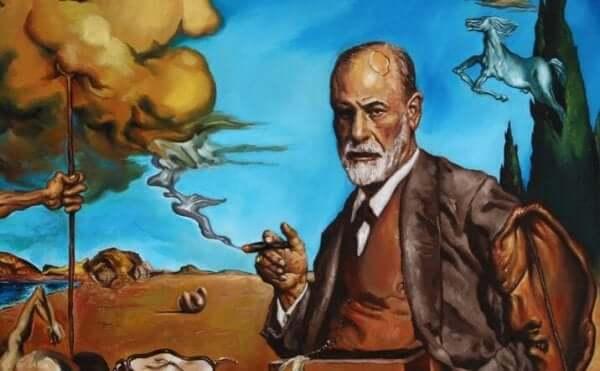 Ein Gemälde von Sigmund Freud