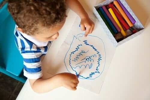 Kritzelei: die geheime Sprache von Kindern
