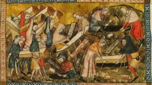 Heutzutage glauben Historiker, dass der Schwarze Tod die Beulenpest war