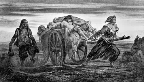 Mitte des vierzehnten Jahrhunderts kam der Schwarze Tod nach Europa