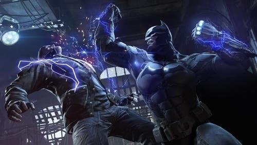 Batman kämpft gegen einen Widersacher.