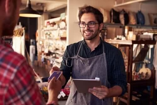 Gig-Economy - Verkäufer und Kunde