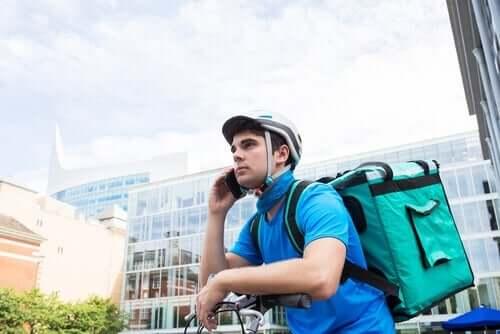 Gig-Economy - Fahrradkurier