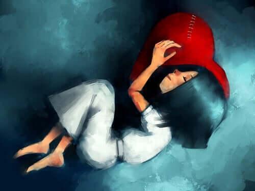 grenzenlose Liebe - schlafendes Mädchen