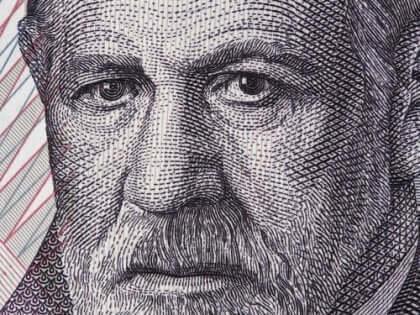 Ein Porträt von Sigmund Freud.