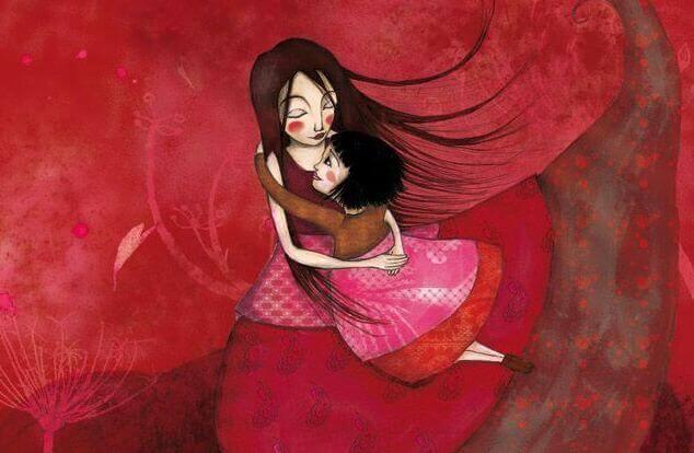 zu entschuldigen - Mutter umarmt Tochter