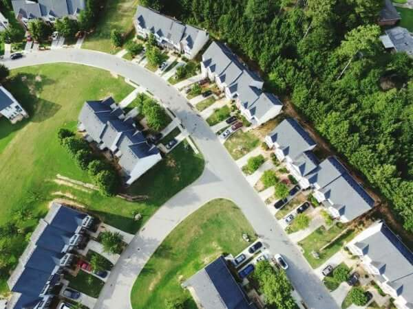Cohousing - Luftaufnahme