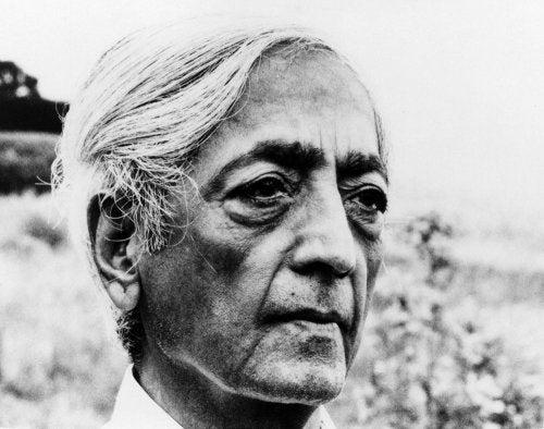 Jiddu Krishnamurti - Foto als alter Mann