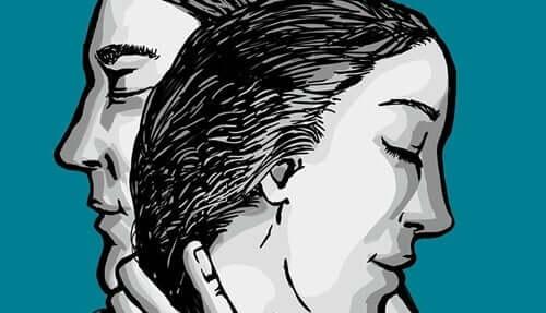 Beziehungstest - Zeichnung eines Paares