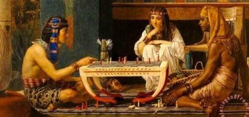 im alten Ägypten - Gemälde von Ramses und Moses