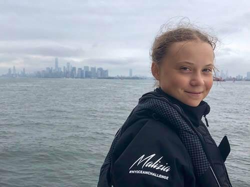 Greta Thunberg - lächelnd