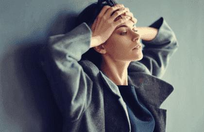 Amygdala und Angst - ängstliche Frau