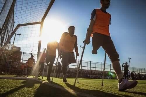 Menschen mit Behinderungen - amputierte Sportler
