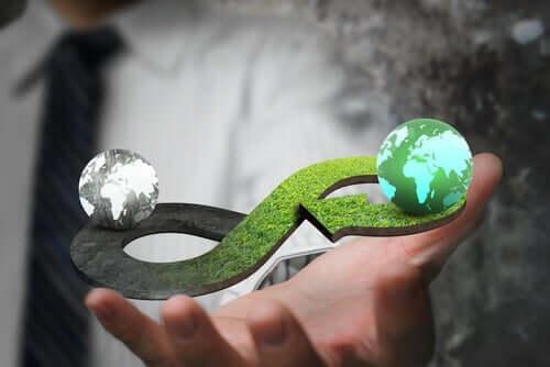 Eine Kreislaufwirtschaft geht vom zyklischen Naturmodell aus. Auf diese Weise befürwortet das System den Einsatz von Ressourcen, indem es die Produktion auf ein unverzichtbares Minimum reduziert und Elemente wiederverwendet.