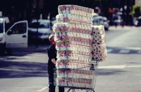Warum so viel Toilettenpapier?