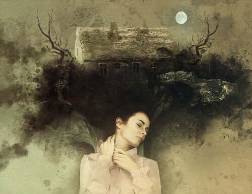 Träume vergessen- Frau träumt