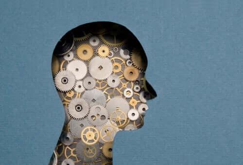 kognitive Therapien - Gehirn aus Zahnrädern