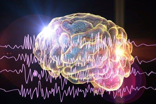 Die Empfindungen treten in einem bestimmten Teil einer Gehirnhälfte für einen kurzen Zeitraum auf